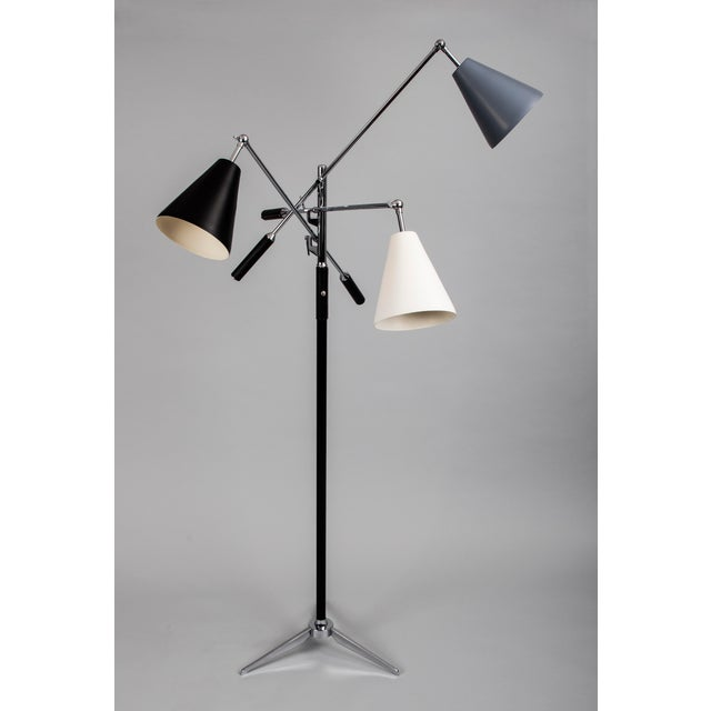 Black 1960s Brutalist Angelo Lelii for Arredoluce Triennale Lamp For Sale - Image 8 of 8