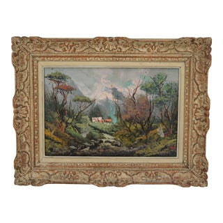 Surroundings of Rivesaltes (South of France) Oil on Hardboard Signed 1950 For Sale