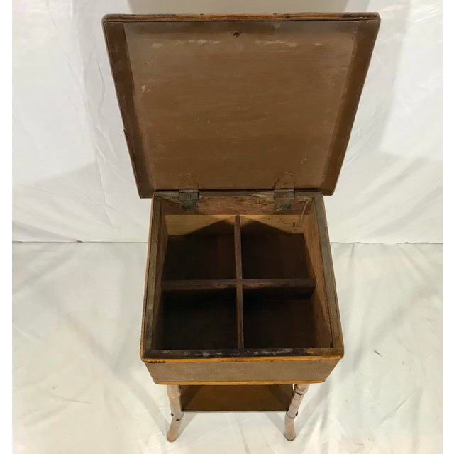 Brown English 19th Century Bamboo Sewing Table For Sale - Image 8 of 9