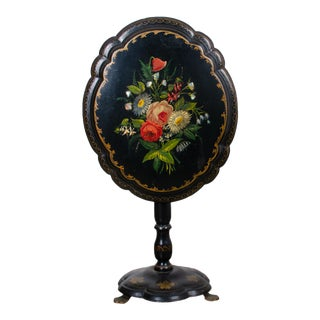 19th Century Victorian Papier-Mâché Tilt Top Table For Sale