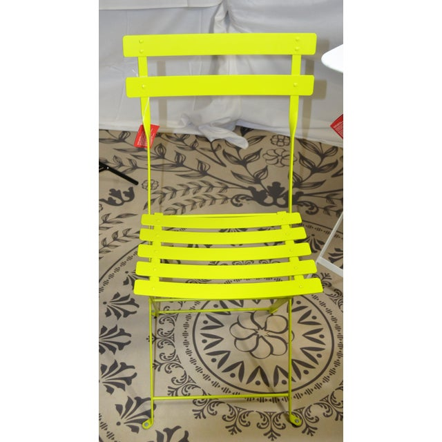 Fermob Bright Yellow Bistro Chair For Sale In Las Vegas - Image 6 of 9
