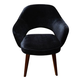 Eero Saarinen Executive Chair for Knoll in Black Mohair For Sale