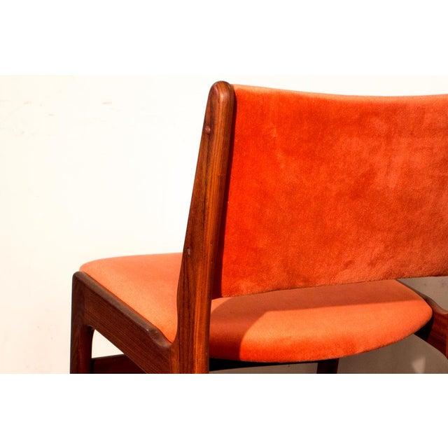 Arne Vodder Style Teak Side Chairs - Set of 4 - Image 6 of 9