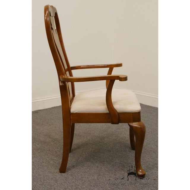 Textile Thomasville Furniture Winston Court Collection Queen Anne Dining Arm Chair For Sale - Image 7 of 9