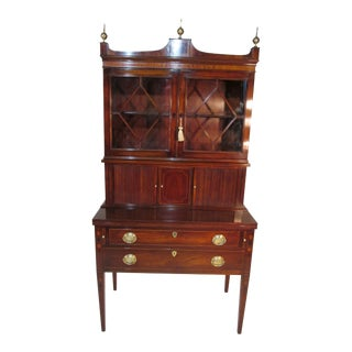 Custom Made Secretary in Three Pieces by Old Colony of Boston For Sale