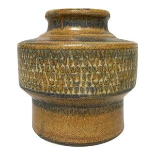 Erik Ploen Norway Scandinavian Modern Studio Pottery Stoneware Vase For Sale