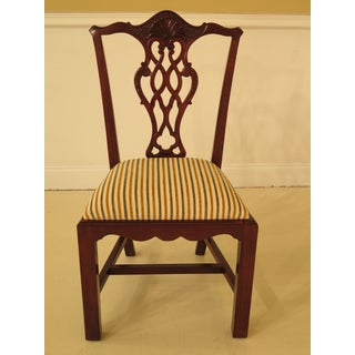 Chippendale Carved Mahogany Dining Room Side Chairs - Set of 16 Preview