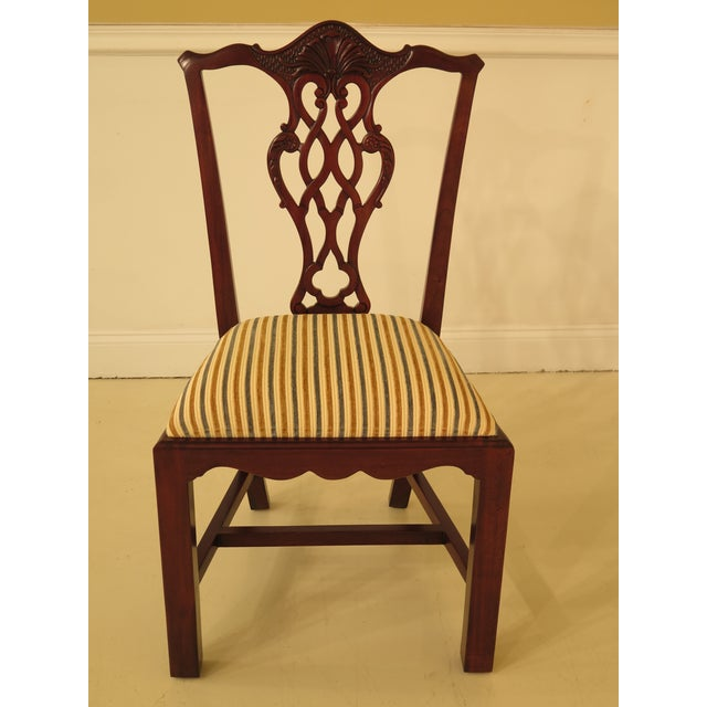 Chippendale Carved Mahogany Dining Room Side Chairs - Set of 16 - Image 2 of 13