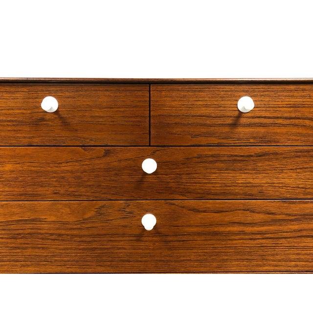 Aluminum George Nelson for Herman Miller Thin Edge Teak Dresser For Sale - Image 7 of 12