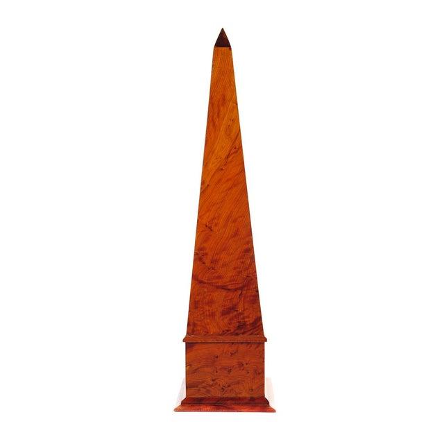 19th C. Large Burl Walnut Obelisks - A Pair - Image 3 of 9