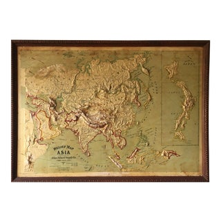 Early 1900's Relief Map of Asia