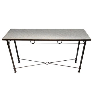 Outdoor Mosaic Console Table For Sale