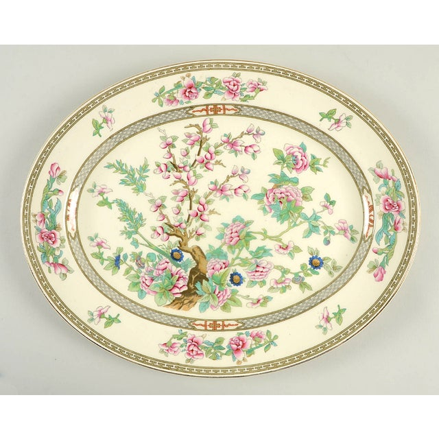 """Crown Ducal Indian Tree 14"""" Oval Serving Platter For Sale In Greensboro - Image 6 of 6"""