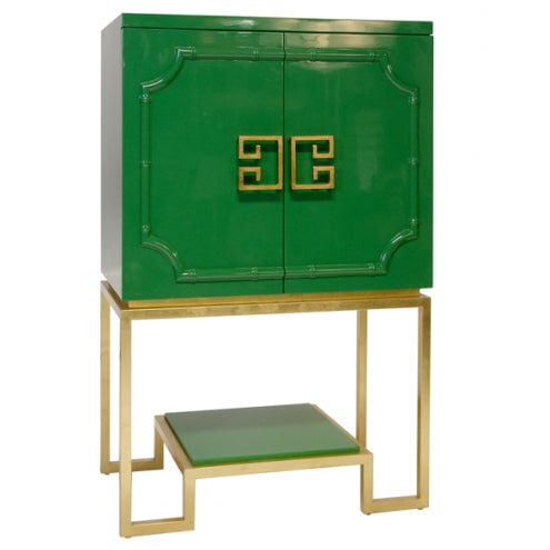 Emerald Green Lacquer Cabinet - Image 2 of 3