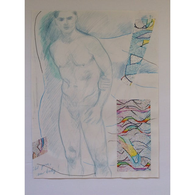 1990s Male Nude Collage by James Bone 1990s For Sale - Image 5 of 5