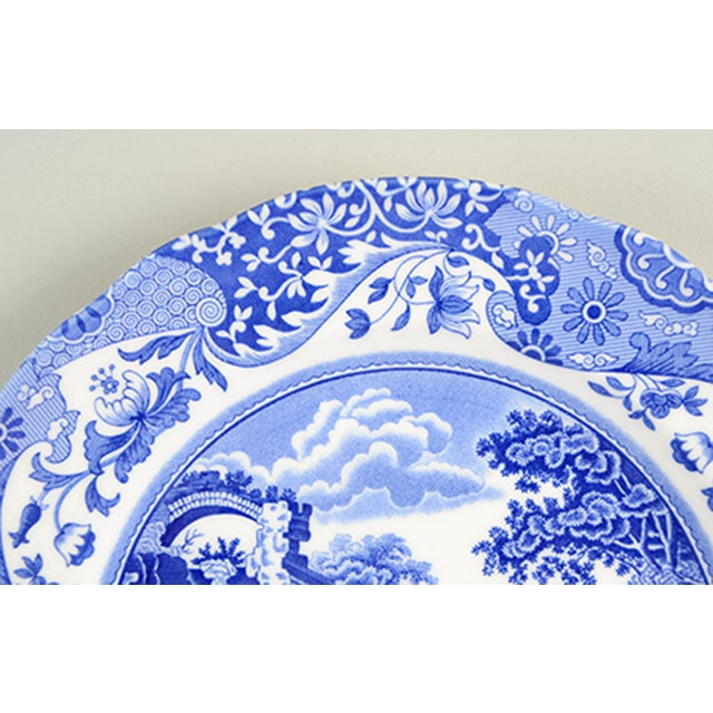 Spode Spode Blue Italian Luncheon Plate - Set of 8 For Sale - Image 4 of 7