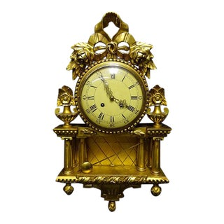 Gustavian Swedish Cartel Clock For Sale