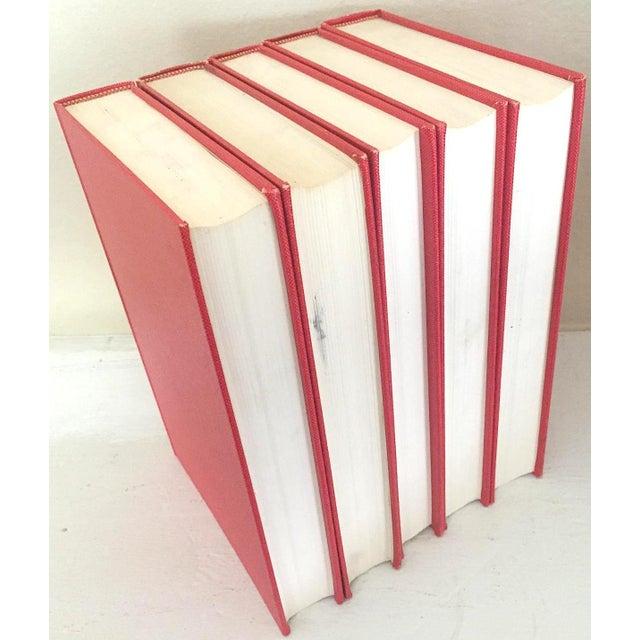 """French 1960's Vintage """"Catalogue Des Livres Composant La Bibliothèque De Feu M. Le Baron James De Rothschild"""" Volume Set- 5 Books For Sale - Image 3 of 4"""