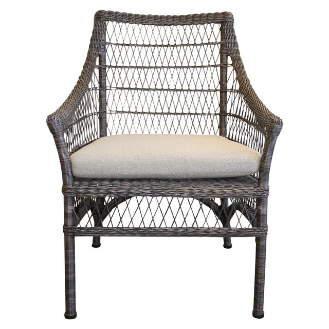 McGuire Water Mill Arm Chair - Image 1 of 6