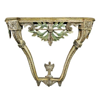 Italian Neoclassic Painted and Silvered Console Table