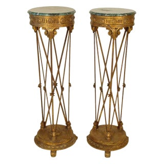 Neoclassical Style Pedestals - a Pair For Sale