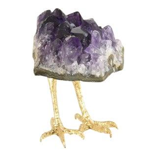 Amethyst with Feet on Acrylic Mount