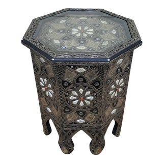 Moroccan Rabat Metal Side Table For Sale