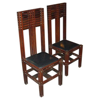 McIntosh Style Arts and Crafts Chairs For Sale