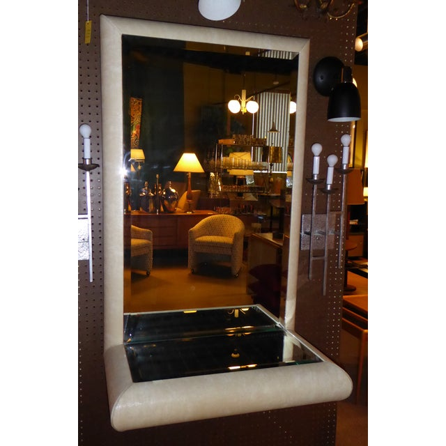 Springer Style Mirror Console in Faux Lizard by Jaru, California - Image 2 of 11