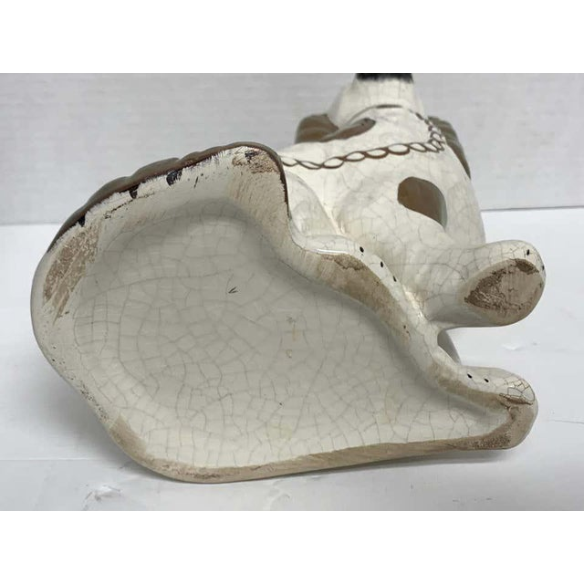 19th Century Wider Staffordshire Copper Luster Dogs With Separated Legs - a Pair For Sale - Image 5 of 12