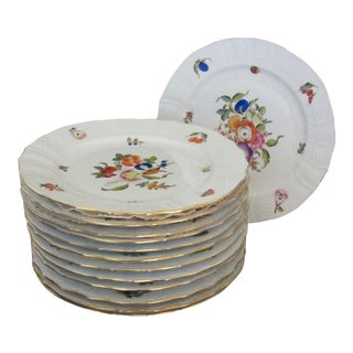 Herend Fruits & Flowers Buffet Plates - Set 13 For Sale