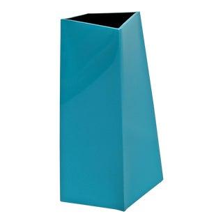 Dick Van Der Meyden Memphis Style Turquoise Ceramic Vase For Sale