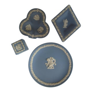 Blue Wedgewood Jasperware - Set of 4 For Sale