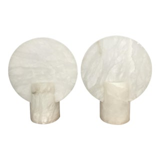 Modern Alabaster Table Lamps Sconces - a Pair
