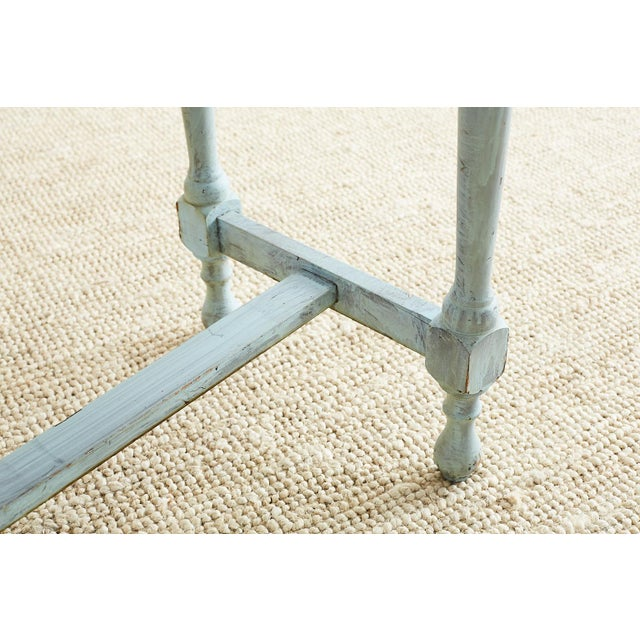 Paint Robin's Egg Blue Painted Console Sofa Table For Sale - Image 7 of 13
