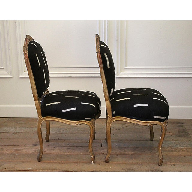 Late 19th Century Late 19th Century Giltwood Louis XV Style French Chairs- A Pair For Sale - Image 5 of 13