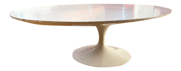 Vintage Eero Saarinen Knoll Oval Tulip Coffee Table