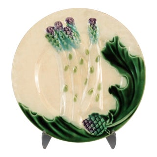 Antique French Asparagus Plate, 4 Available For Sale