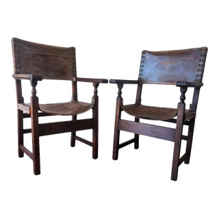 18th Century Colonial European Spanish Altar Armchairs For Sale