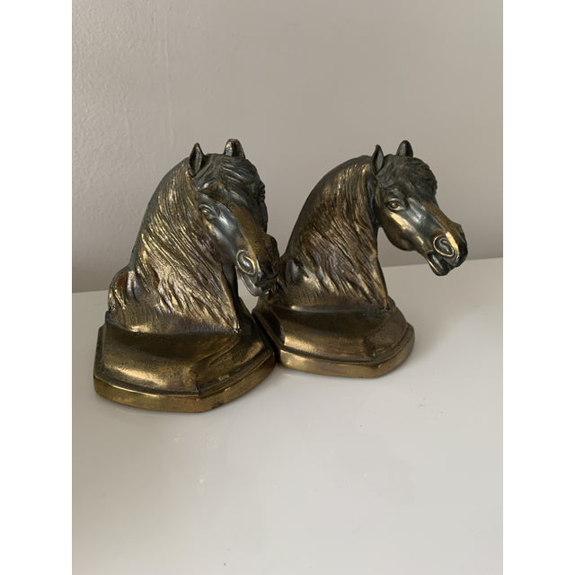 Figurative Vintage Equestrian Horse Bookends- a Pair For Sale - Image 3 of 10