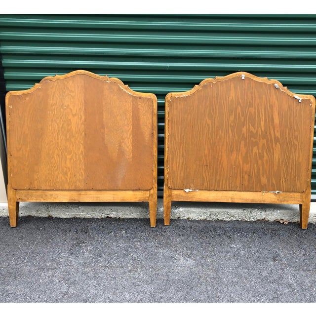 Vintage Upholstered Twin Bed Frames - a Pair For Sale - Image 12 of 13
