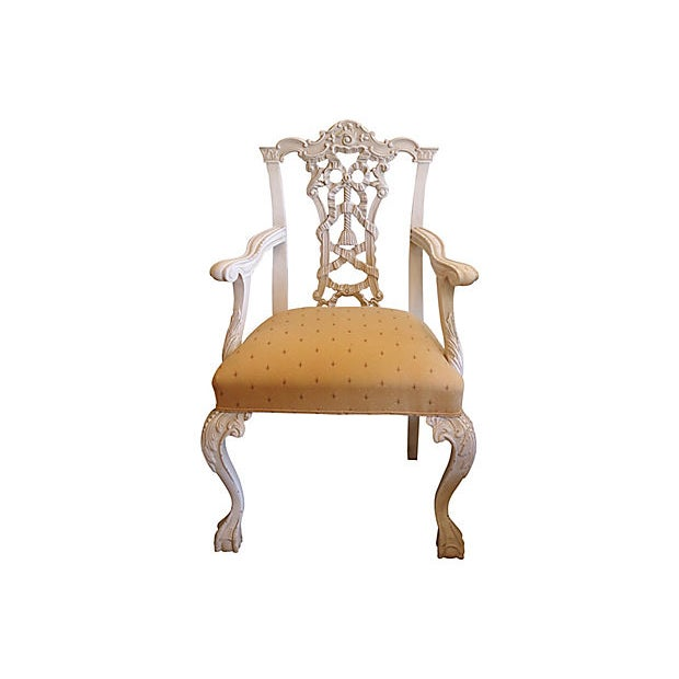 Cottage 1960s Italian Hand-Carved Chairs - a Pair For Sale - Image 3 of 8