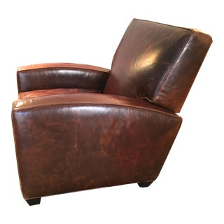Restoration Hardware Leather Reclining Club Chair