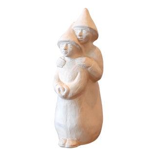 Vintage Plaster Figurine Sculpture