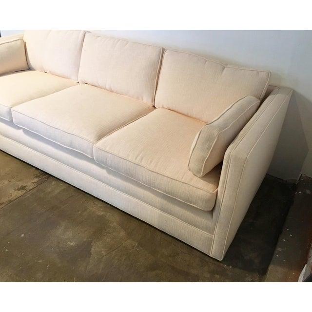 Knoll Tuxedo Linen Sofa - Image 6 of 10