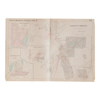 Vintage Hopkins Map of Yorktown Heights For Sale