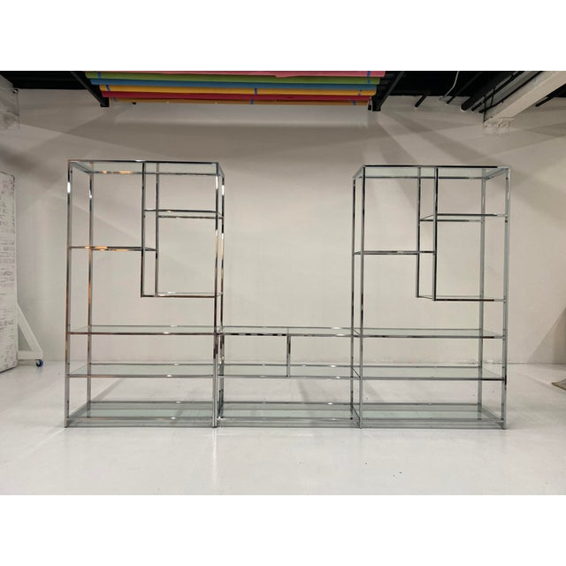 1970s Milo Baughman Style Chrome Etagere For Sale - Image 13 of 13