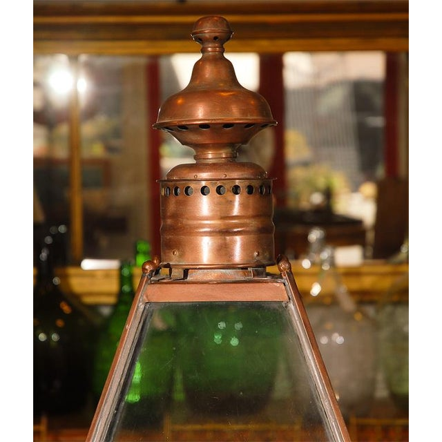 Just the sort of delightful item that will make an impression on any setting. This 19th century gas street lamp has been...