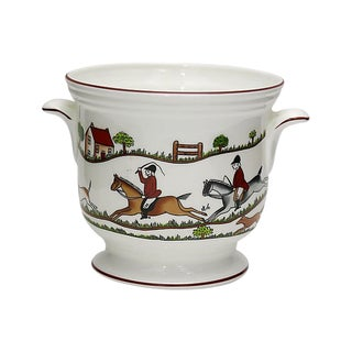 Coalport English Hunting Scene Jardiniere For Sale