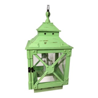 Beachfront Green Wooden Lantern